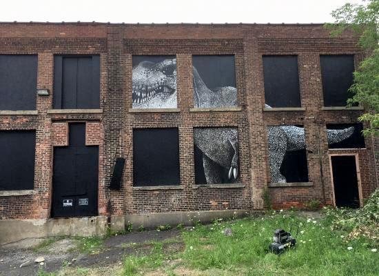 Dinosaur mural, Dept. of Public Art