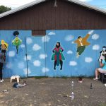 Superheroes Painted at Floral Ave. Park